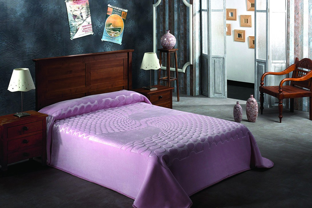 Κουβέρτα Βελουτέ Υπέρδιπλη Morven Serena 413 Ροζ