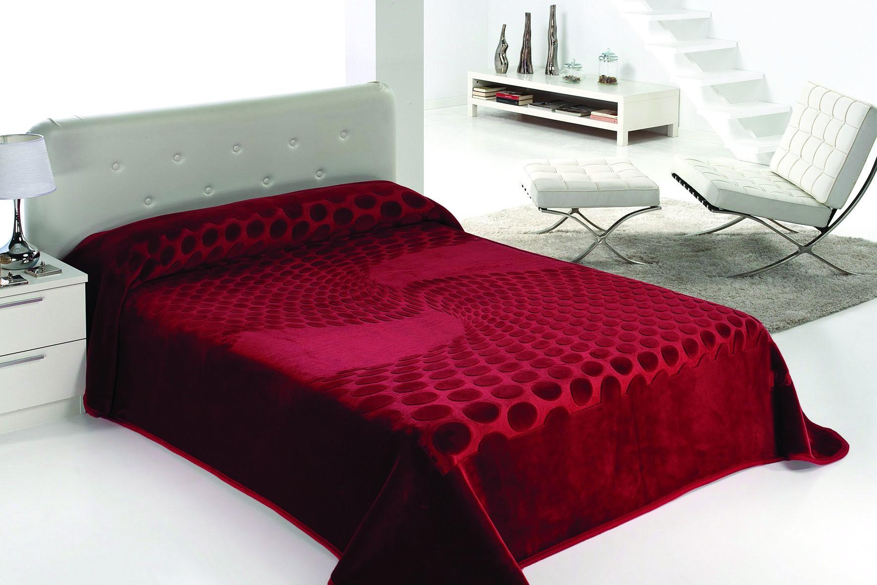Κουβέρτα Βελουτέ King Size Morven Serena 413 Μπορντώ home   κρεβατοκάμαρα   κουβέρτες   κουβέρτες βελουτέ υπέρδιπλες