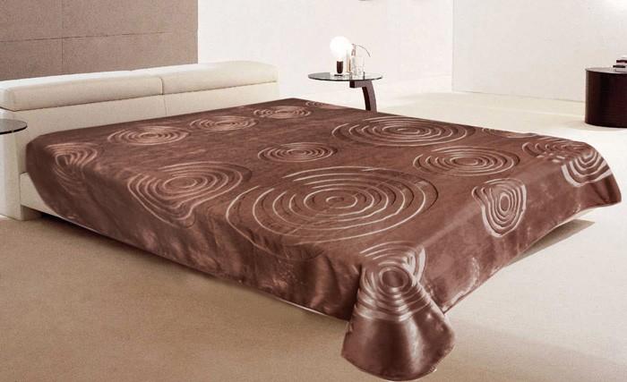 Κουβέρτα Βελουτέ Υπέρδιπλη Morven Space 789 Καφέ