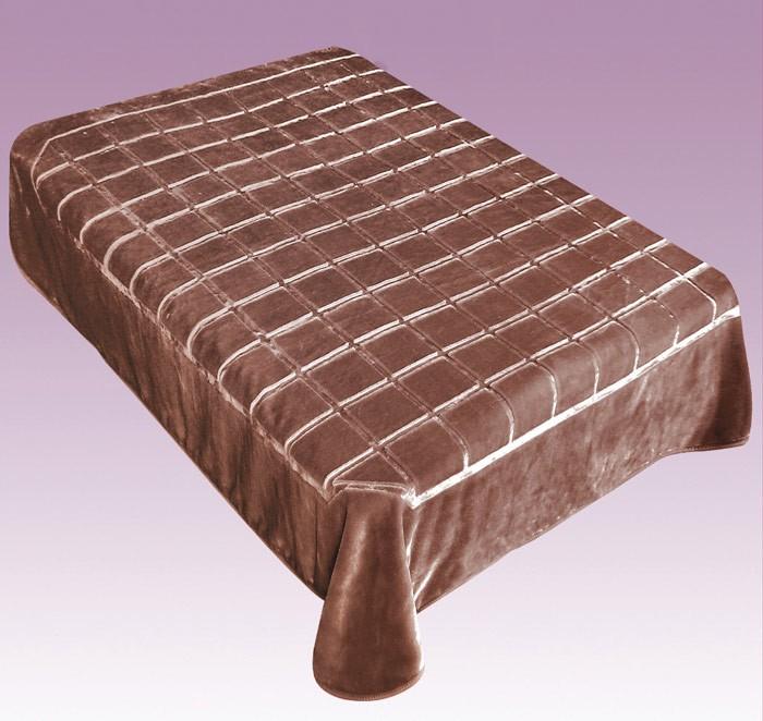 Κουβέρτα Βελουτέ Μονή Morven Matrix 788 Καφέ