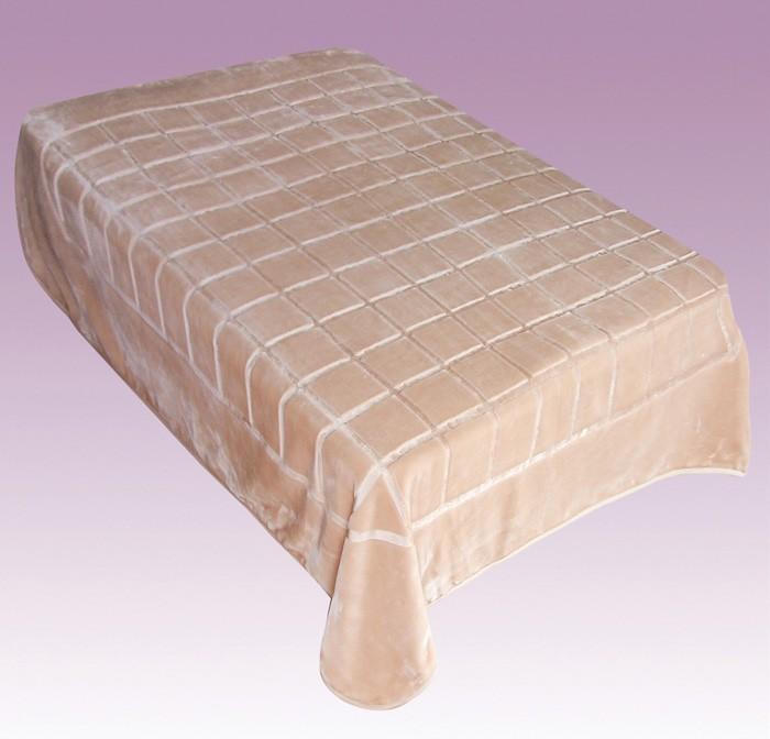 Κουβέρτα Βελουτέ Μονή Morven Matrix 788 Μπεζ