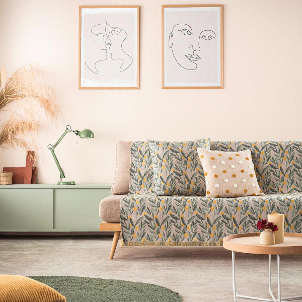 Ριχτάρι Πολυθρόνας (180x180) Gofis Home Olive 233/11