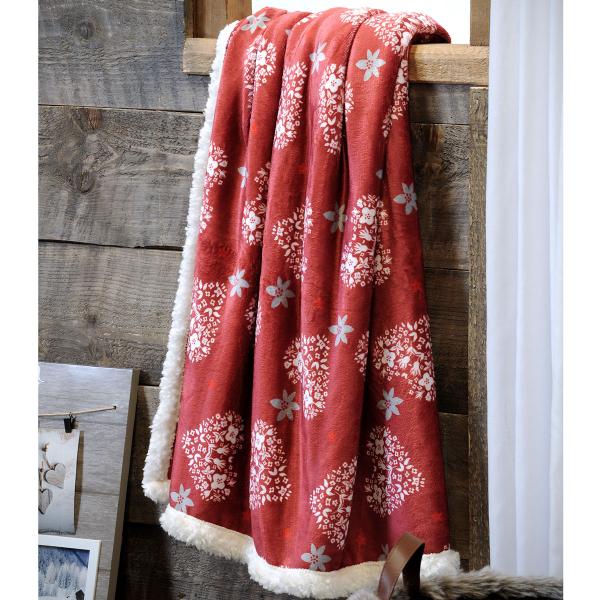 Κουβέρτα Καναπέ S-F Valpelline Rouge P2A892001