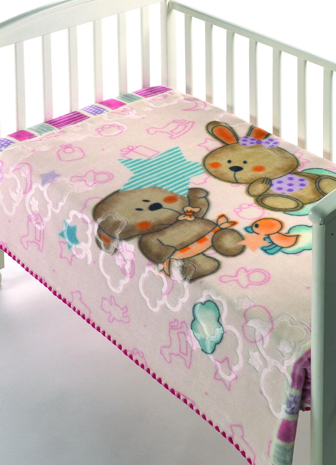 Κουβέρτα Βελουτέ Κούνιας Morven Luxury Plus 275 Ροζ home   βρεφικά   κουβέρτες βρεφικές   κουβέρτες βελουτέ
