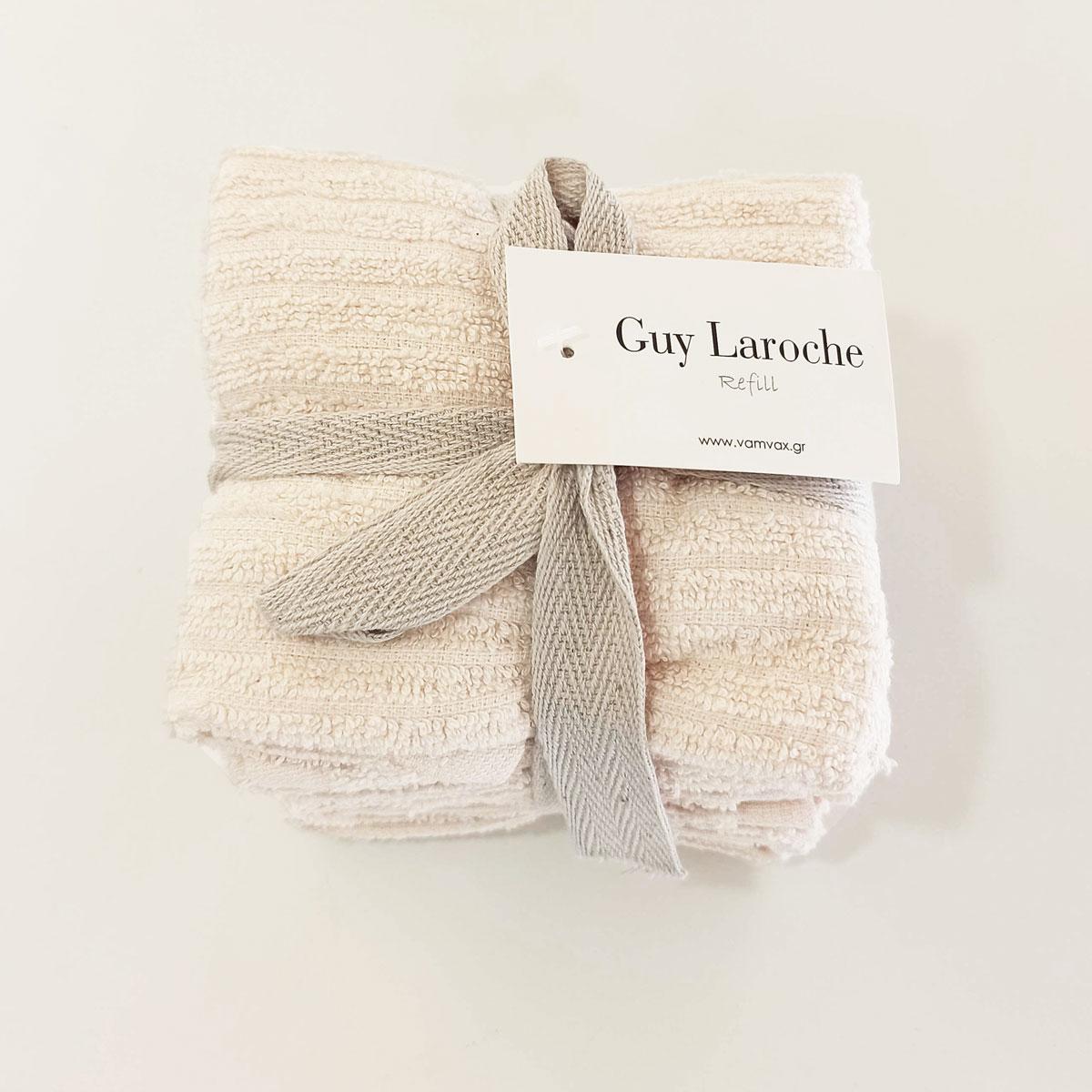 Λαβέτες (Σετ 6τμχ) Guy Laroche Guest Refill Perla