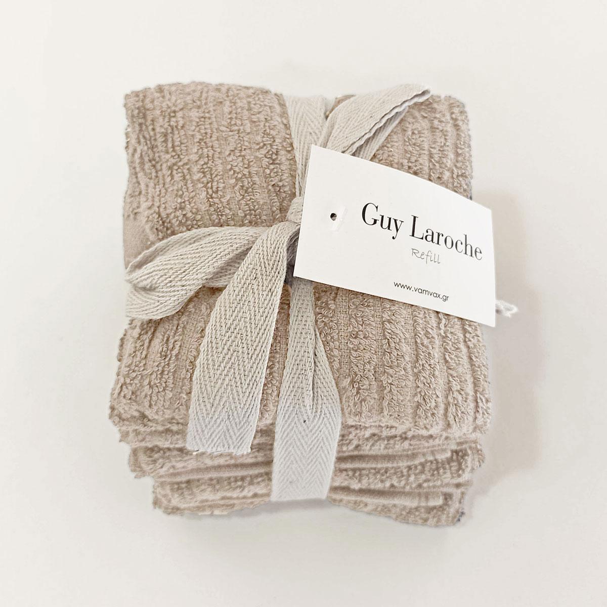 Λαβέτες (Σετ 6τμχ) Guy Laroche Guest Refill Lino