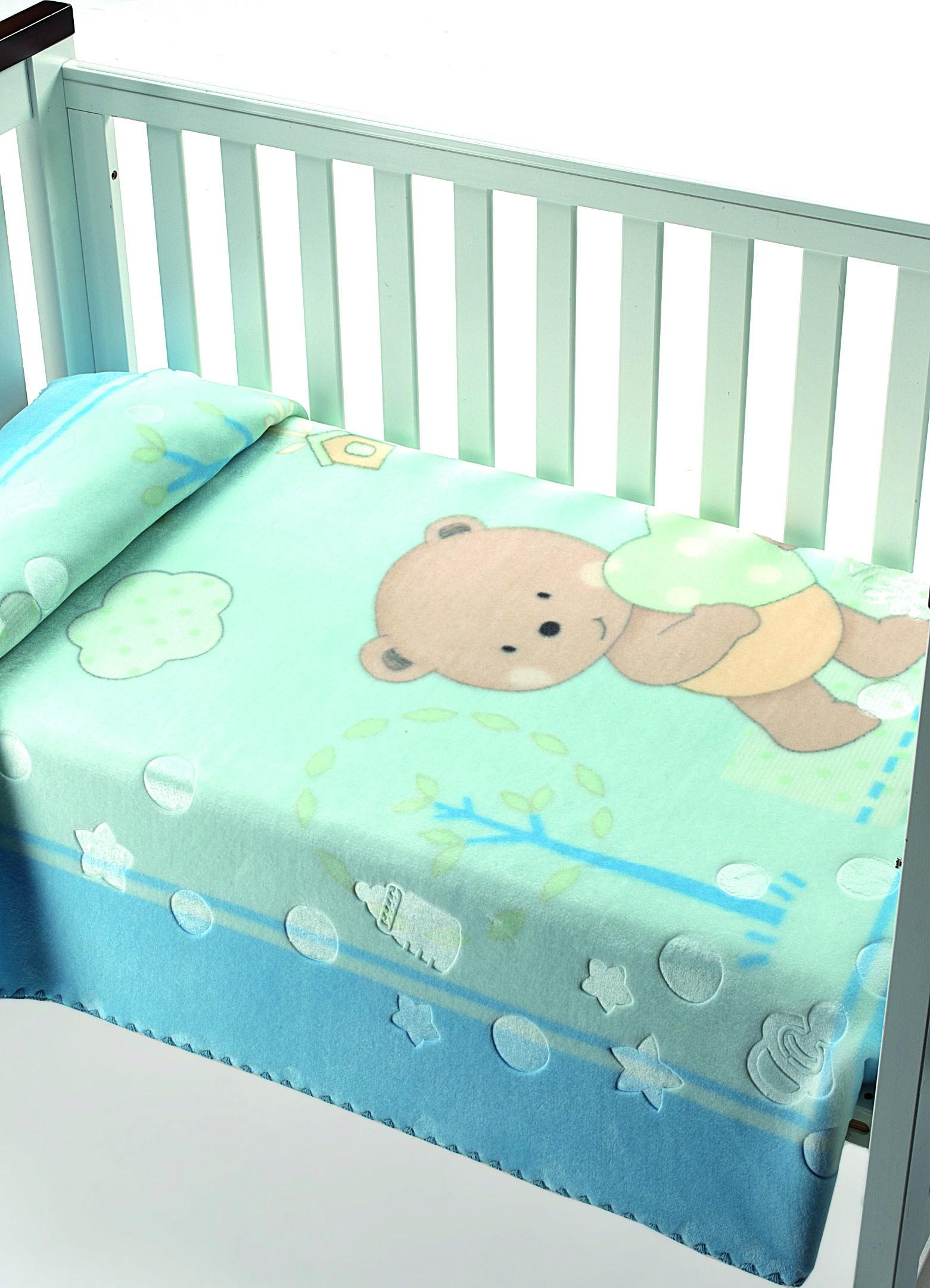 Κουβέρτα Βελουτέ Κούνιας Morven Luxury Plus 826 Σιέλ