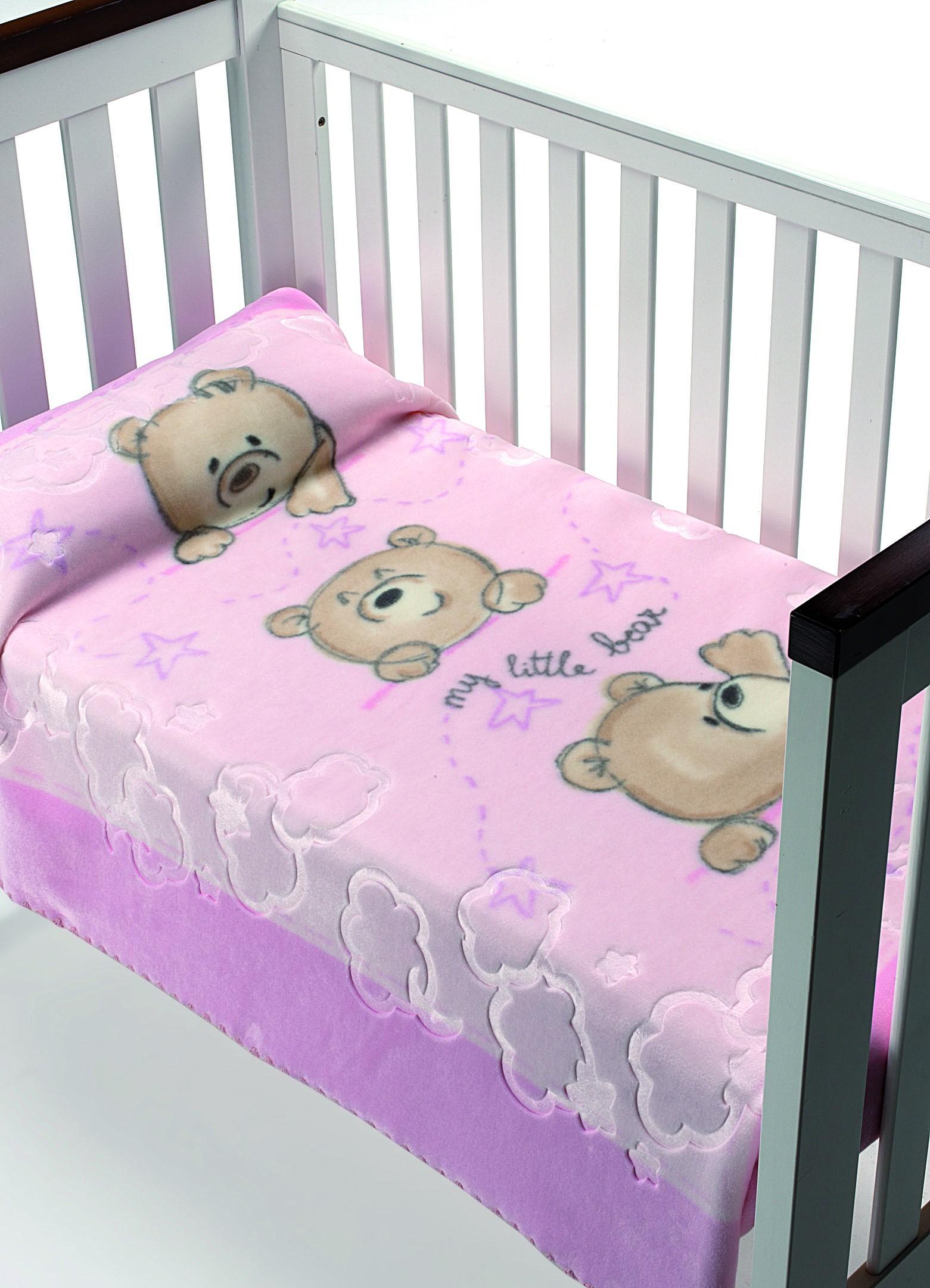 Κουβέρτα Βελουτέ Κούνιας Morven Luxury Plus 827 Ροζ