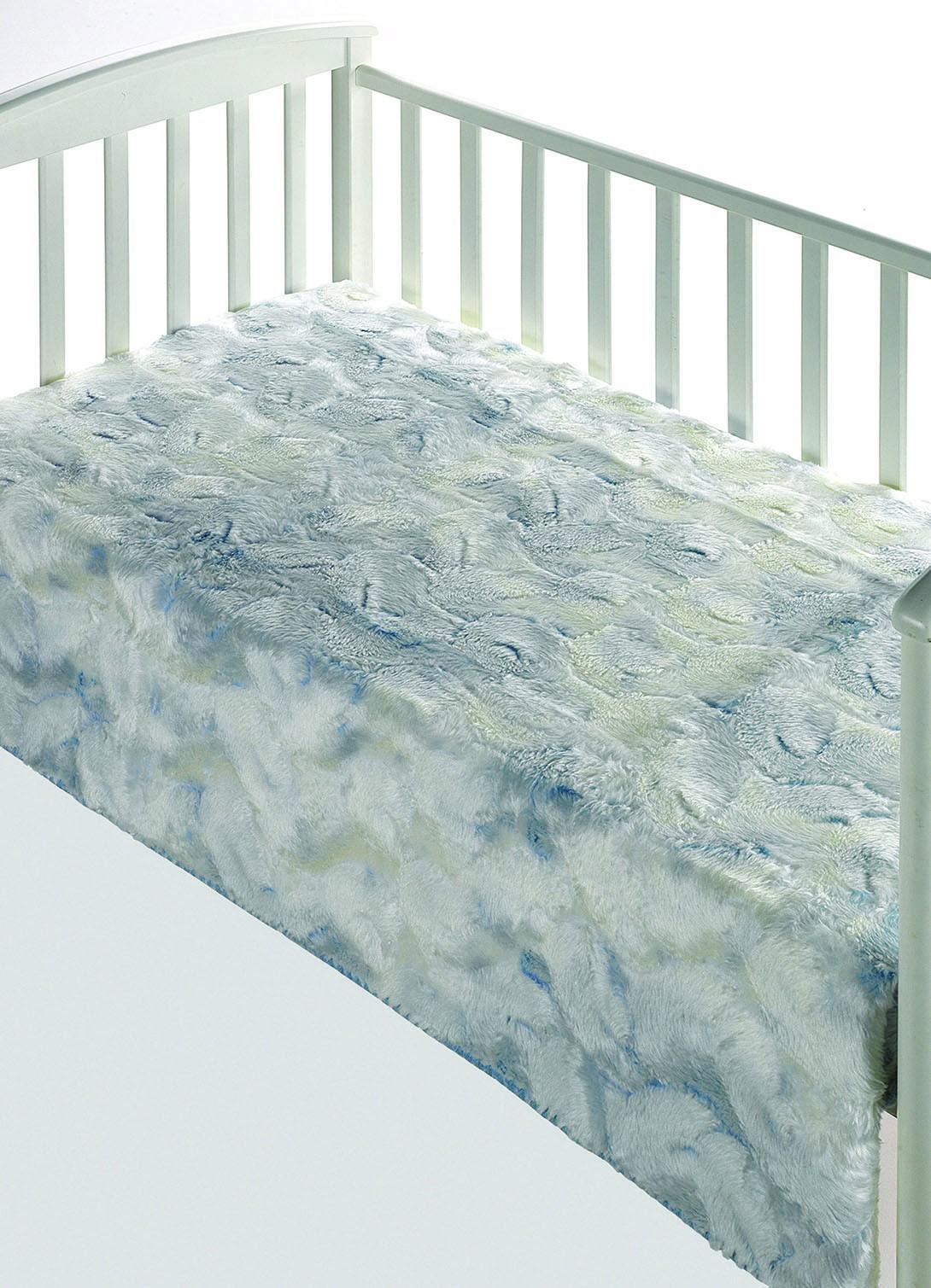 Κουβέρτα Βελουτέ Κούνιας Morven Morapel Luxe 828 Σιέλ