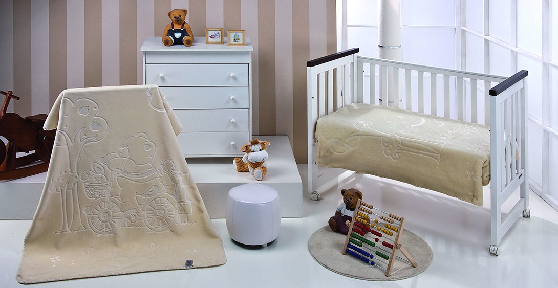 Κουβέρτα Βελουτέ Αγκαλιάς Morven Colours Kids 550 Μπεζ