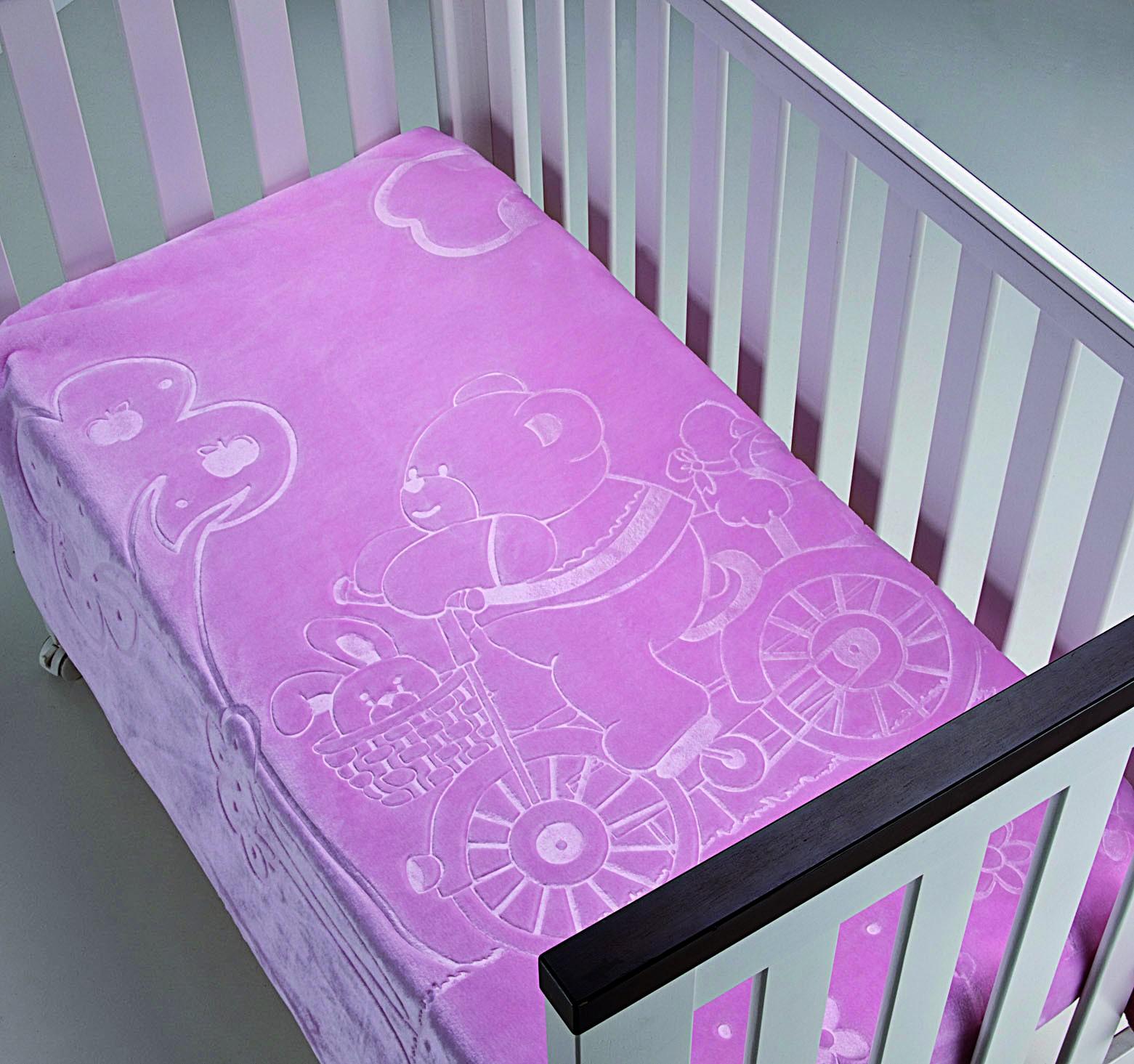 Κουβέρτα Βελουτέ Κούνιας Morven Colours Kids 550 Ροζ