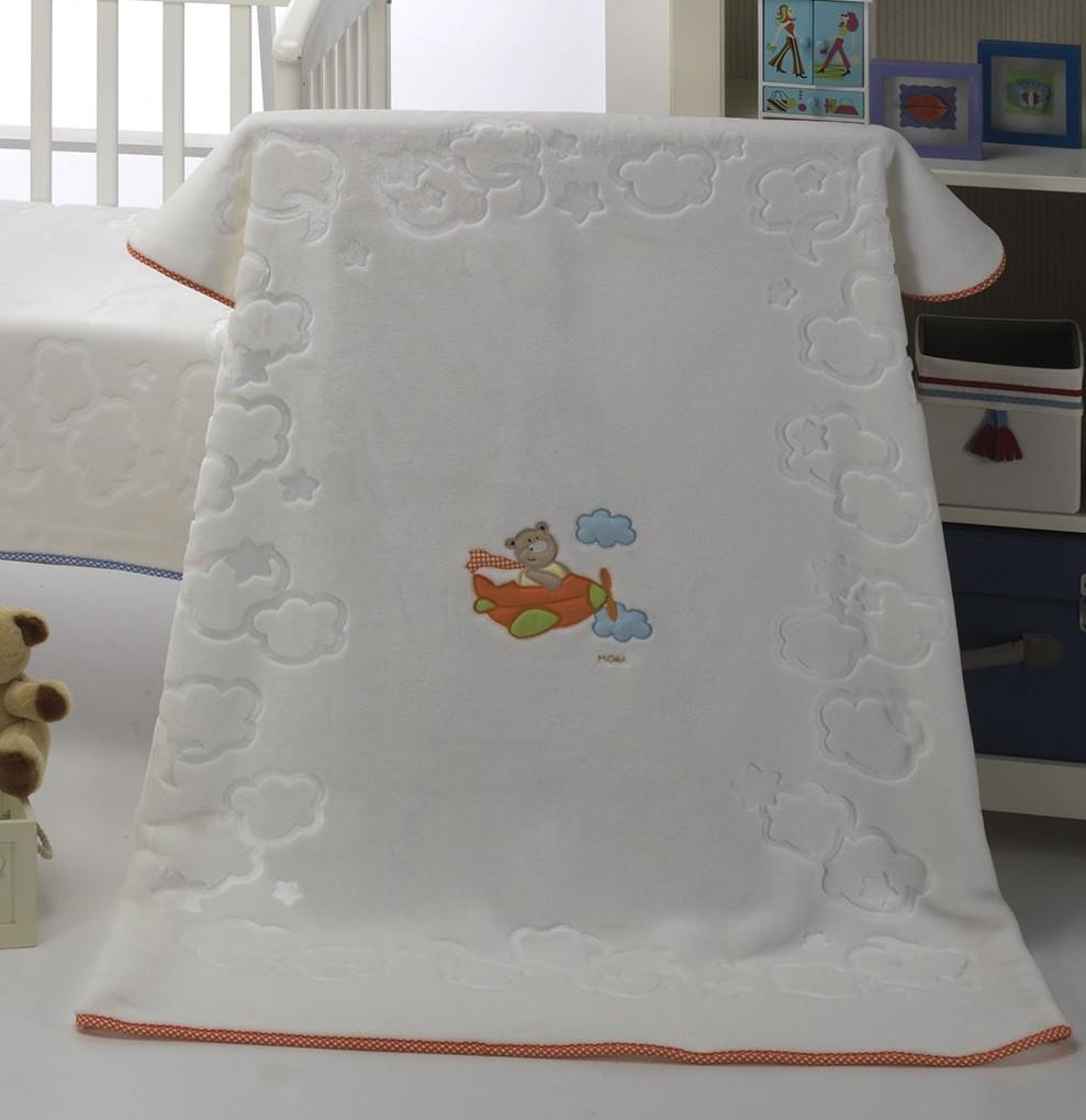 Κουβέρτα Βελουτέ Κούνιας Morven Candy 328 Πορτοκαλί