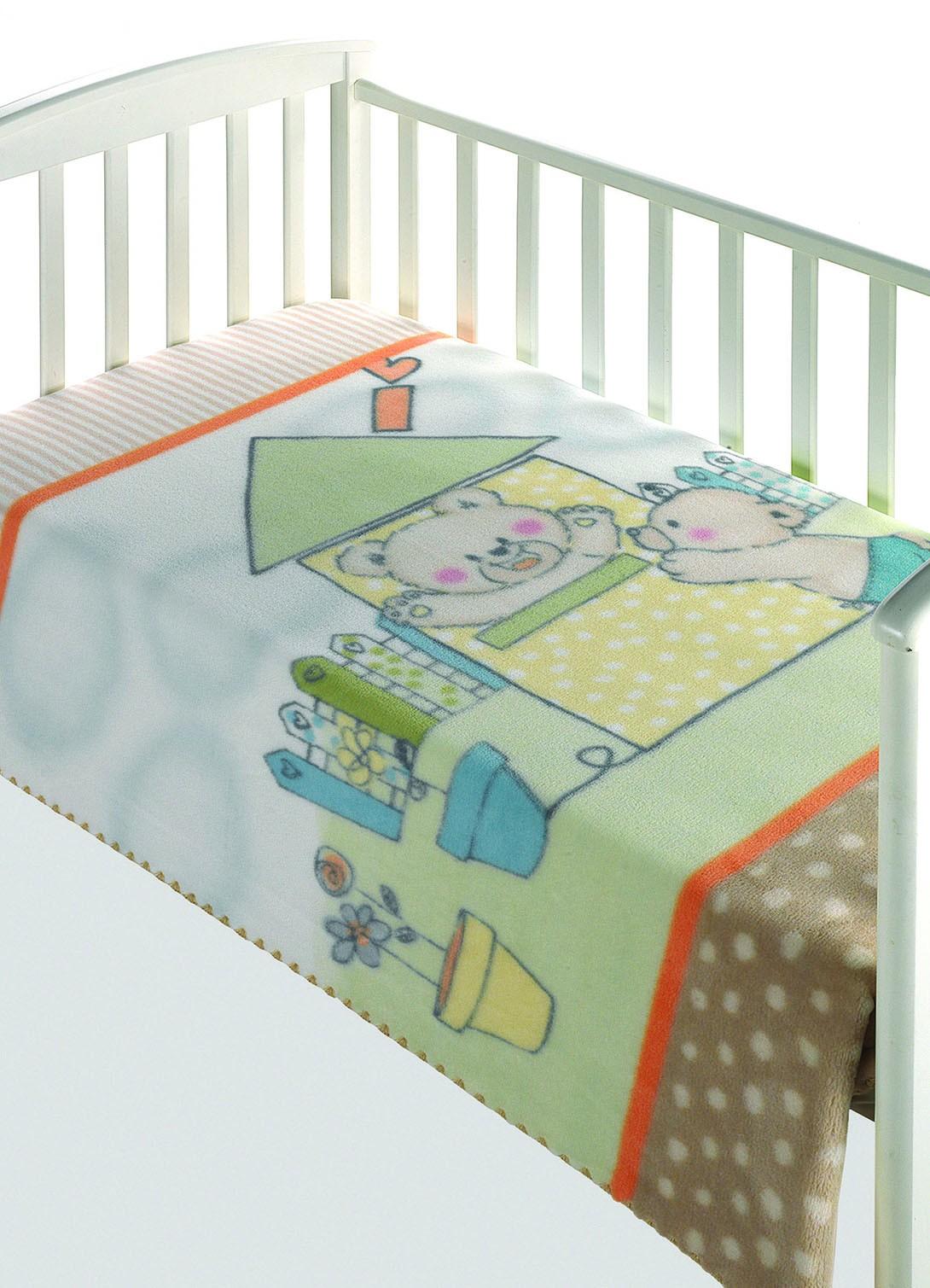 Κουβέρτα Βελουτέ Κούνιας Morven Magic Baby 285 Μπεζ