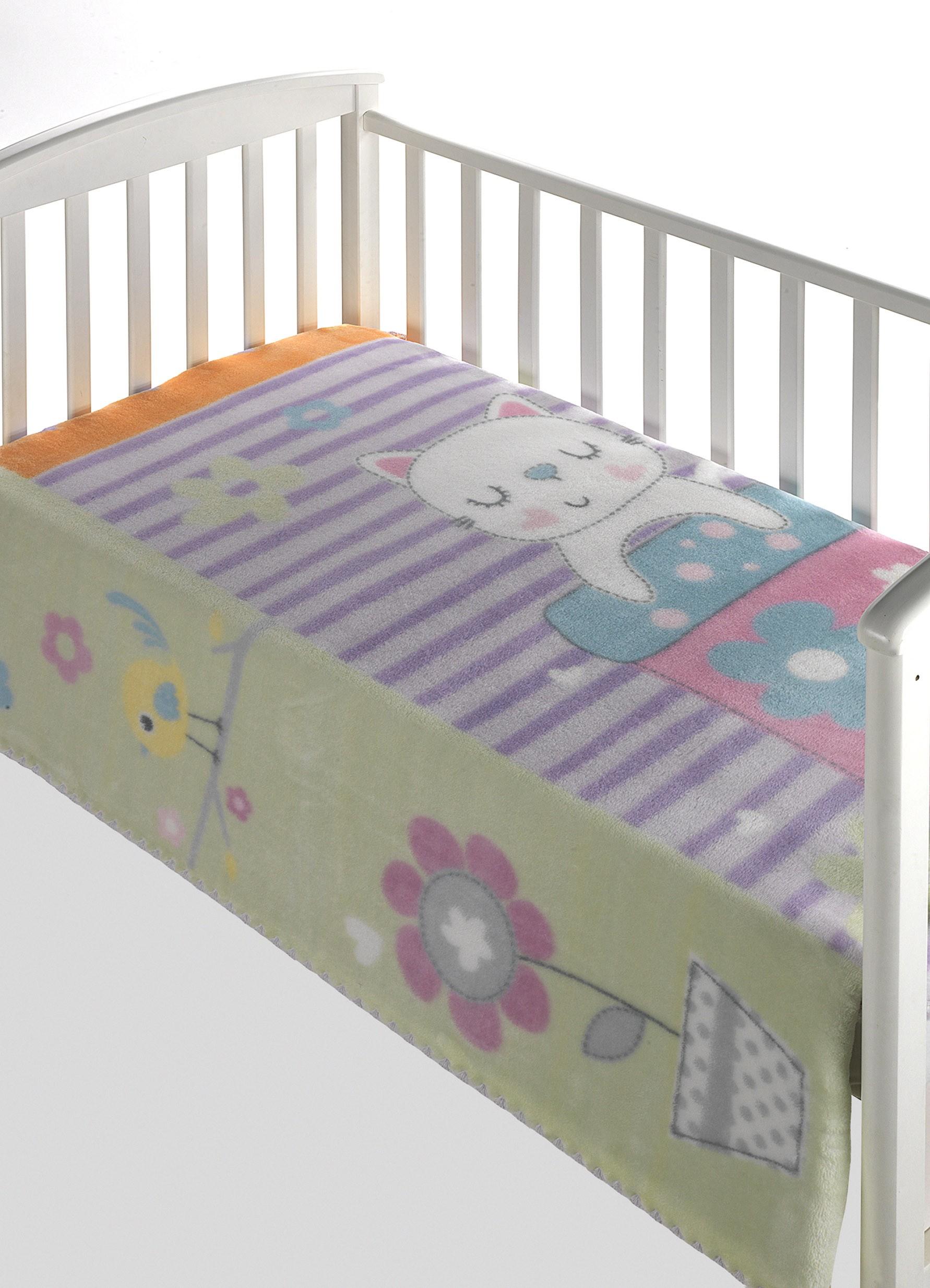 Κουβέρτα Βελουτέ Κούνιας Morven Magic Baby 303 Λιλά
