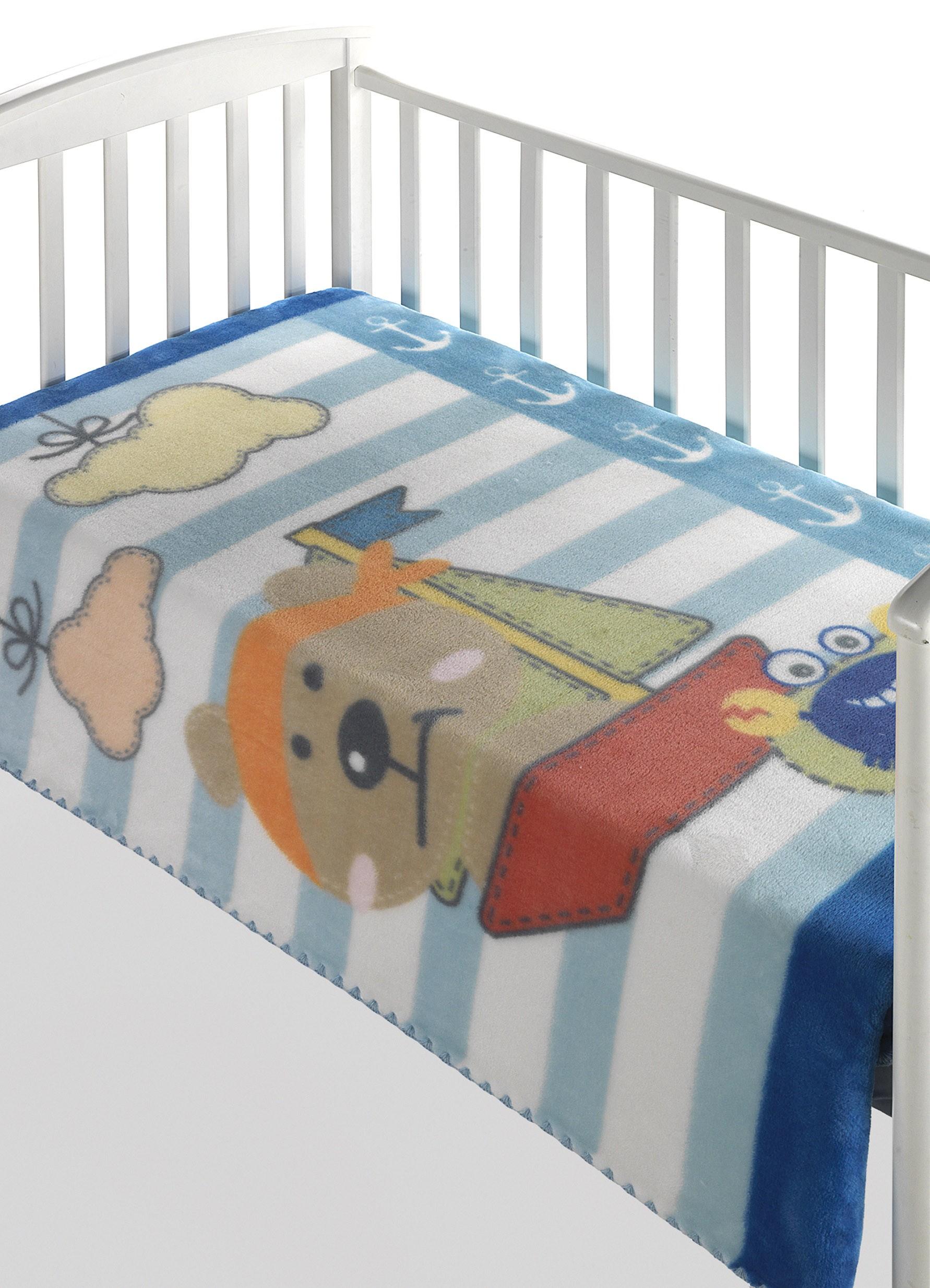 Κουβέρτα Βελουτέ Κούνιας Morven Magic Baby 306 Σιέλ