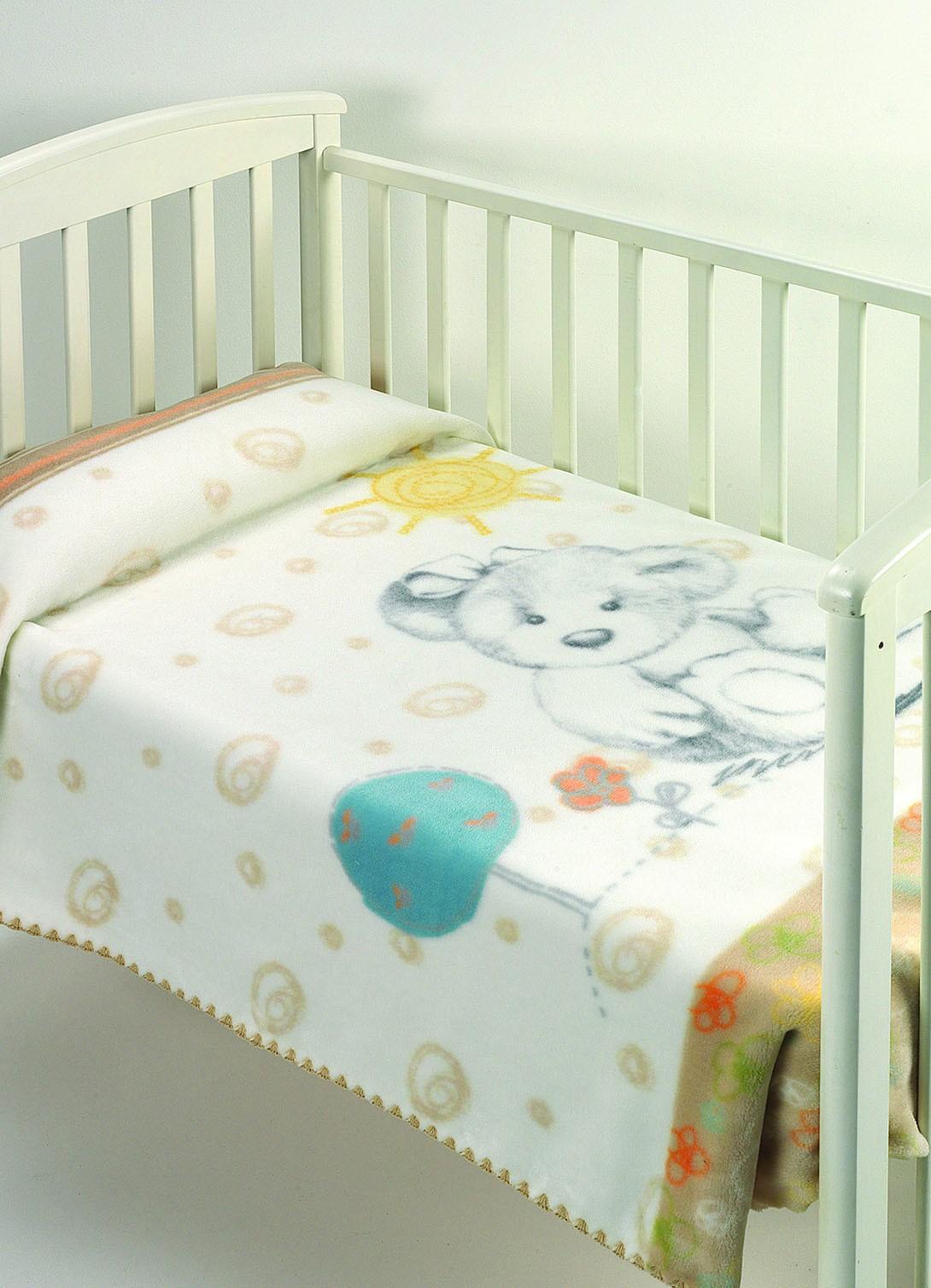 Κουβέρτα Βελουτέ Κούνιας Morven Harmony A14 Μπεζ
