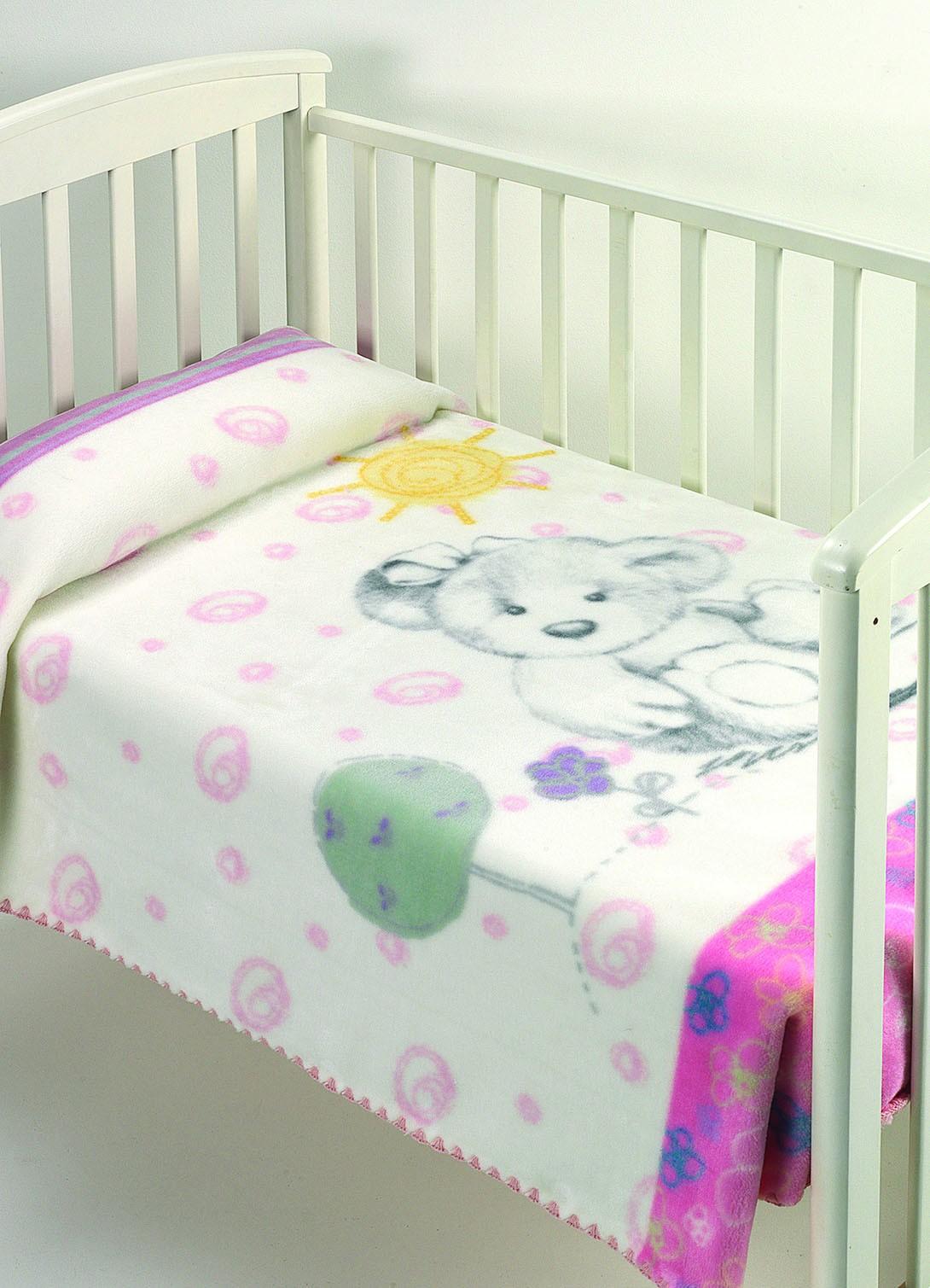 Κουβέρτα Βελουτέ Κούνιας Morven Harmony A14 Ροζ