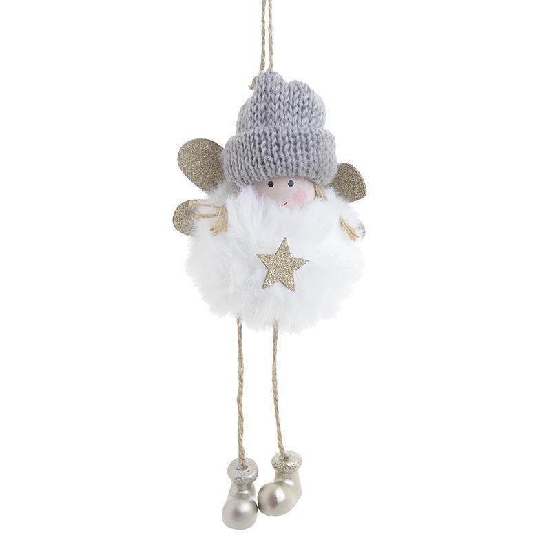 Χριστουγεννιάτικα Στολίδια (Σετ 6τμχ) InArt Άγγελος Λευκό 2-70-126-0015