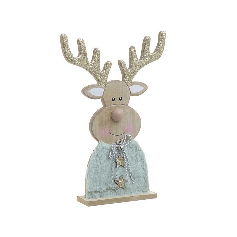 Χριστουγεννιάτικο Διακοσμητικό InArt Τάρανδος Σιέλ 2-70-126-0022