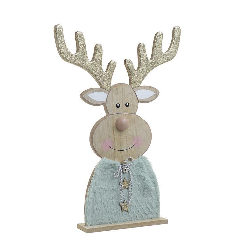 Χριστουγεννιάτικο Διακοσμητικό InArt Τάρανδος Σιέλ 2-70-126-0023