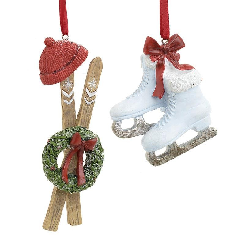 Χριστουγεννιάτικα Στολίδια (Σετ 4τμχ) InArt Σκι/Παγοπέδιλα 2-70-979-0004