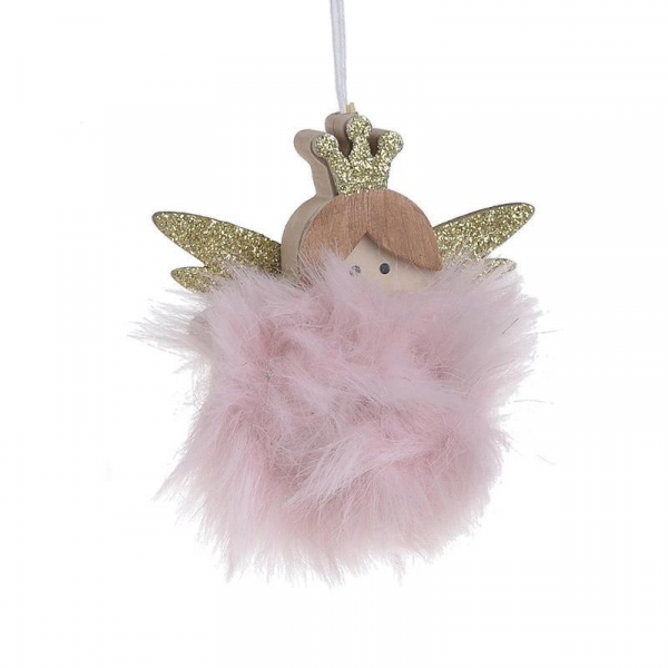 Χριστουγεννιάτικα Στολίδια (Σετ 6τμχ) InArt Άγγελος Ροζ 2-70-540-0079