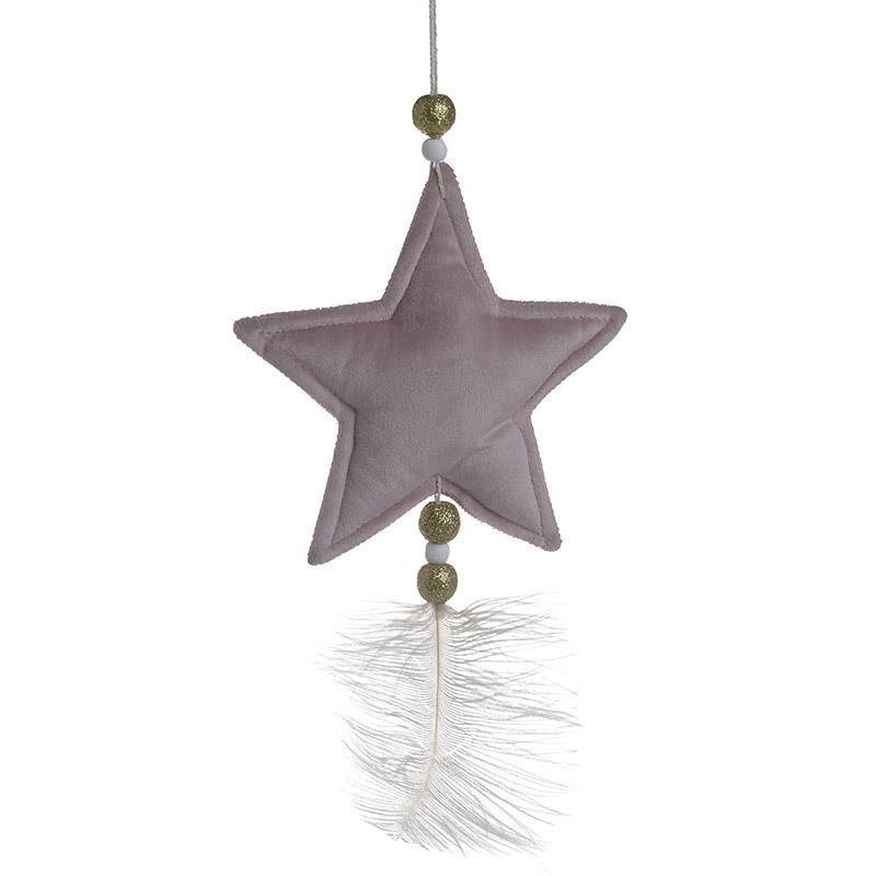 Χριστουγεννιάτικα Στολίδια (Σετ 6τμχ) InArt Αστέρι Λιλά 2-70-540-0081