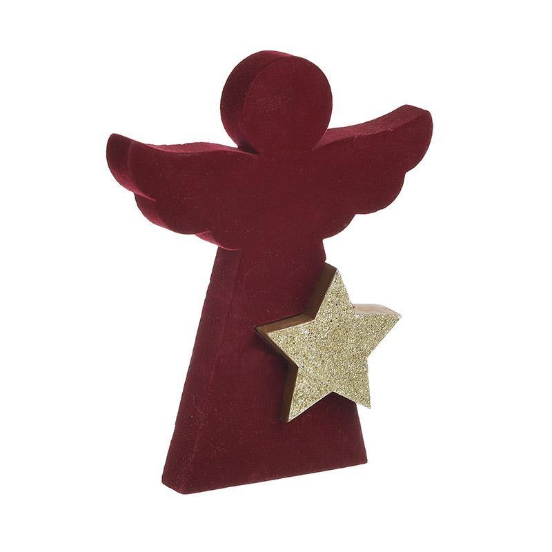 Χριστουγεννιάτικο Διακοσμητικό InArt Άγγελος Κόκκινο 2-70-540-0122