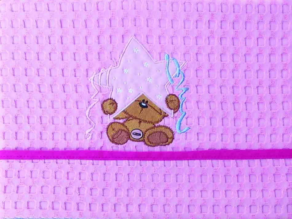 Κουβέρτα Πικέ Αγκαλιάς Morven Star Pink
