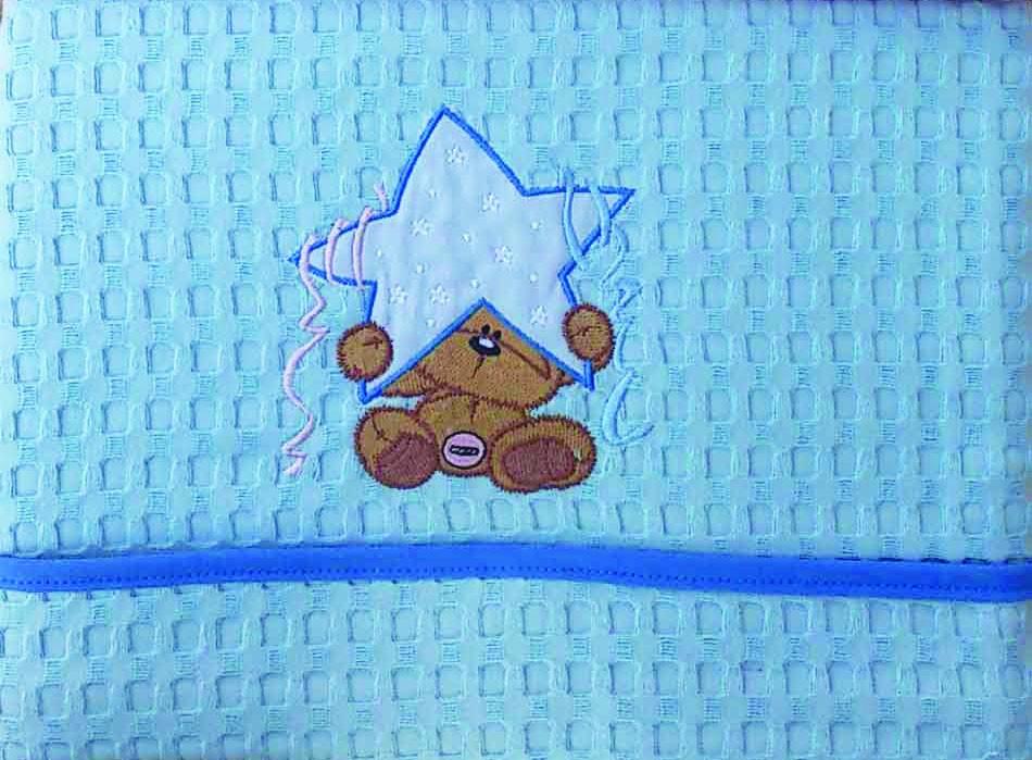 Κουβέρτα Πικέ Αγκαλιάς Morven Star Blue