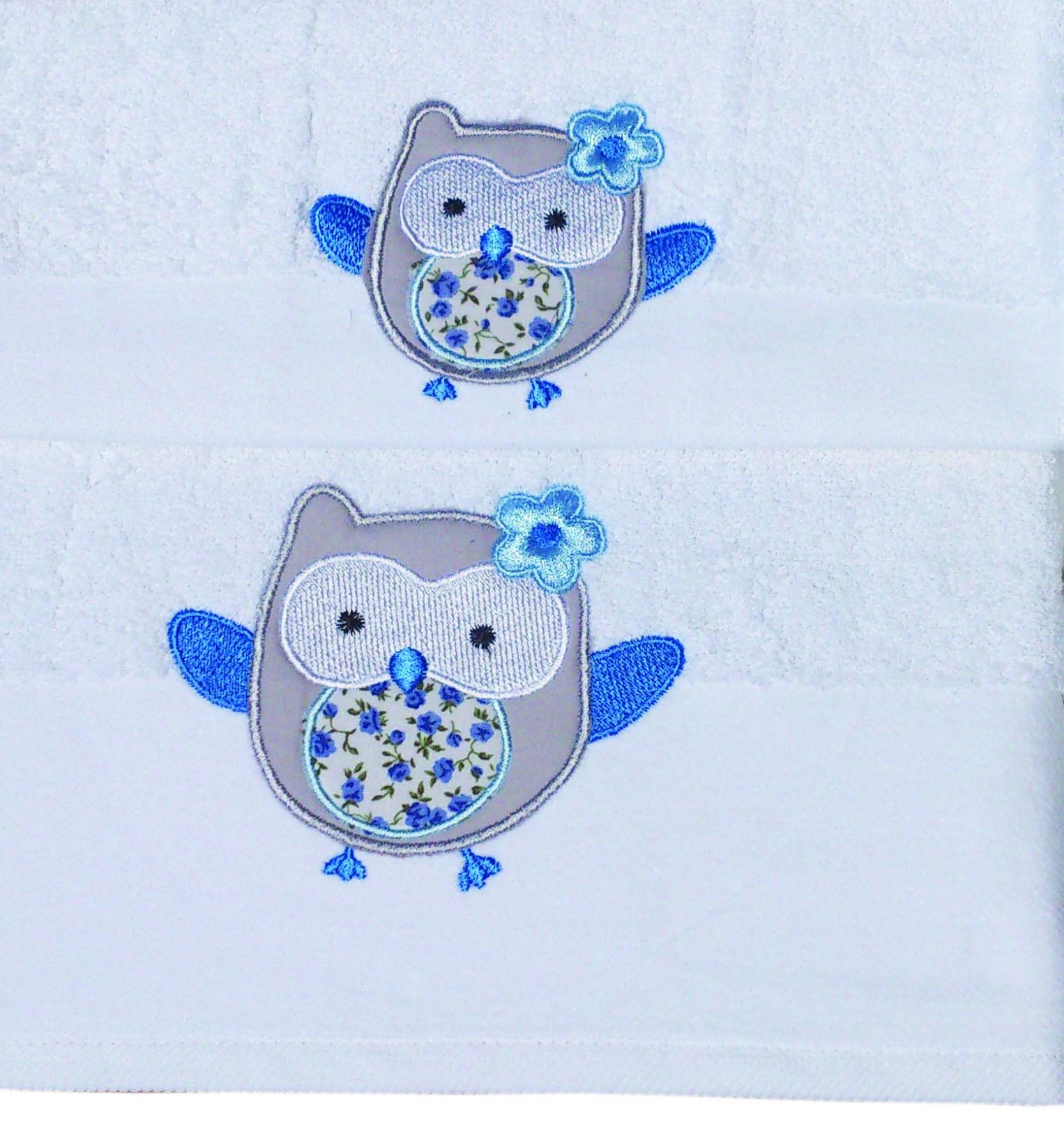 Βρεφικές Πετσέτες (Σετ 2τμχ) Morven Owl Blue
