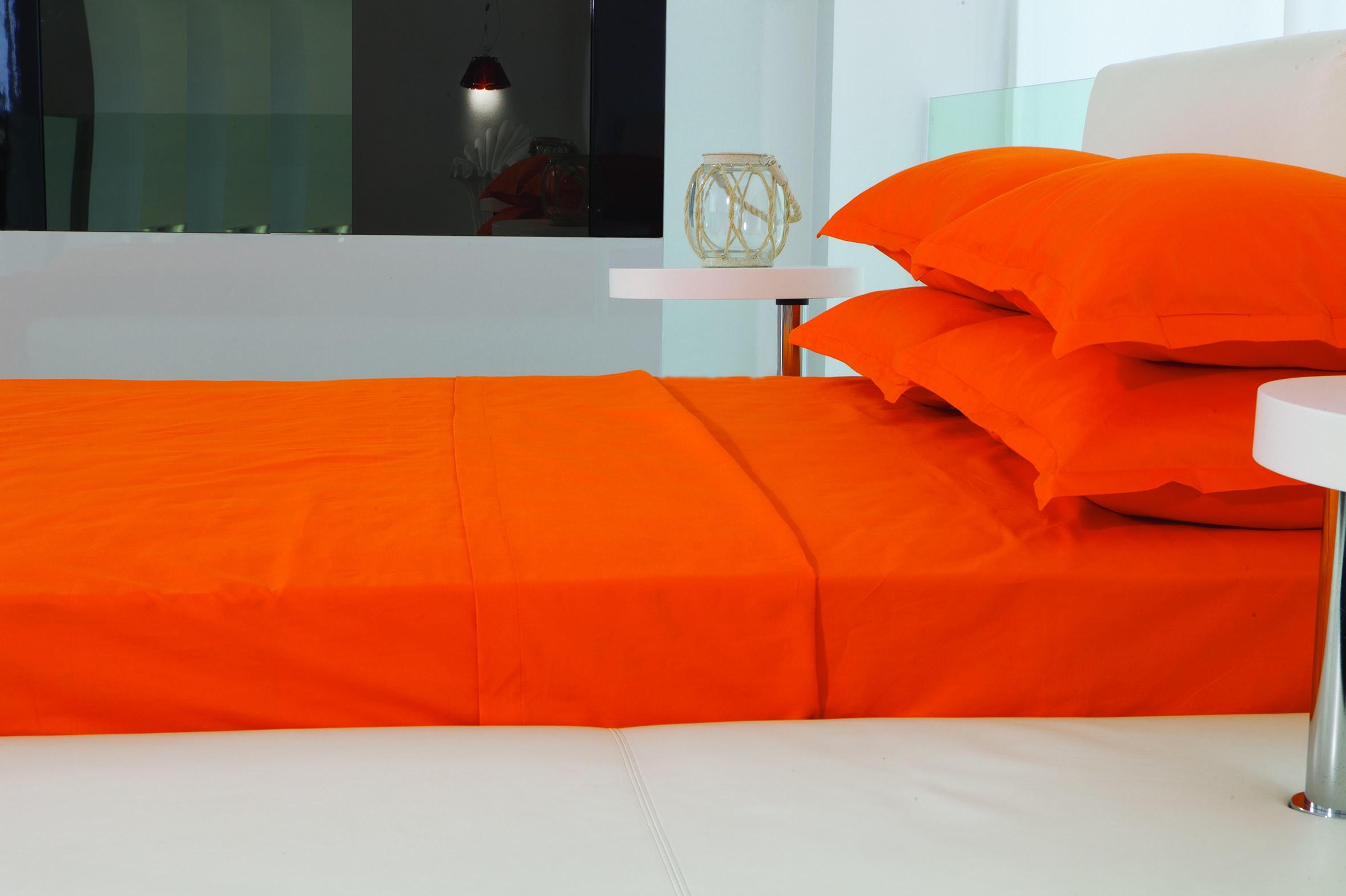 Σεντόνια Υπέρδιπλα (Σετ) Makis Tselios Nuovo Orange