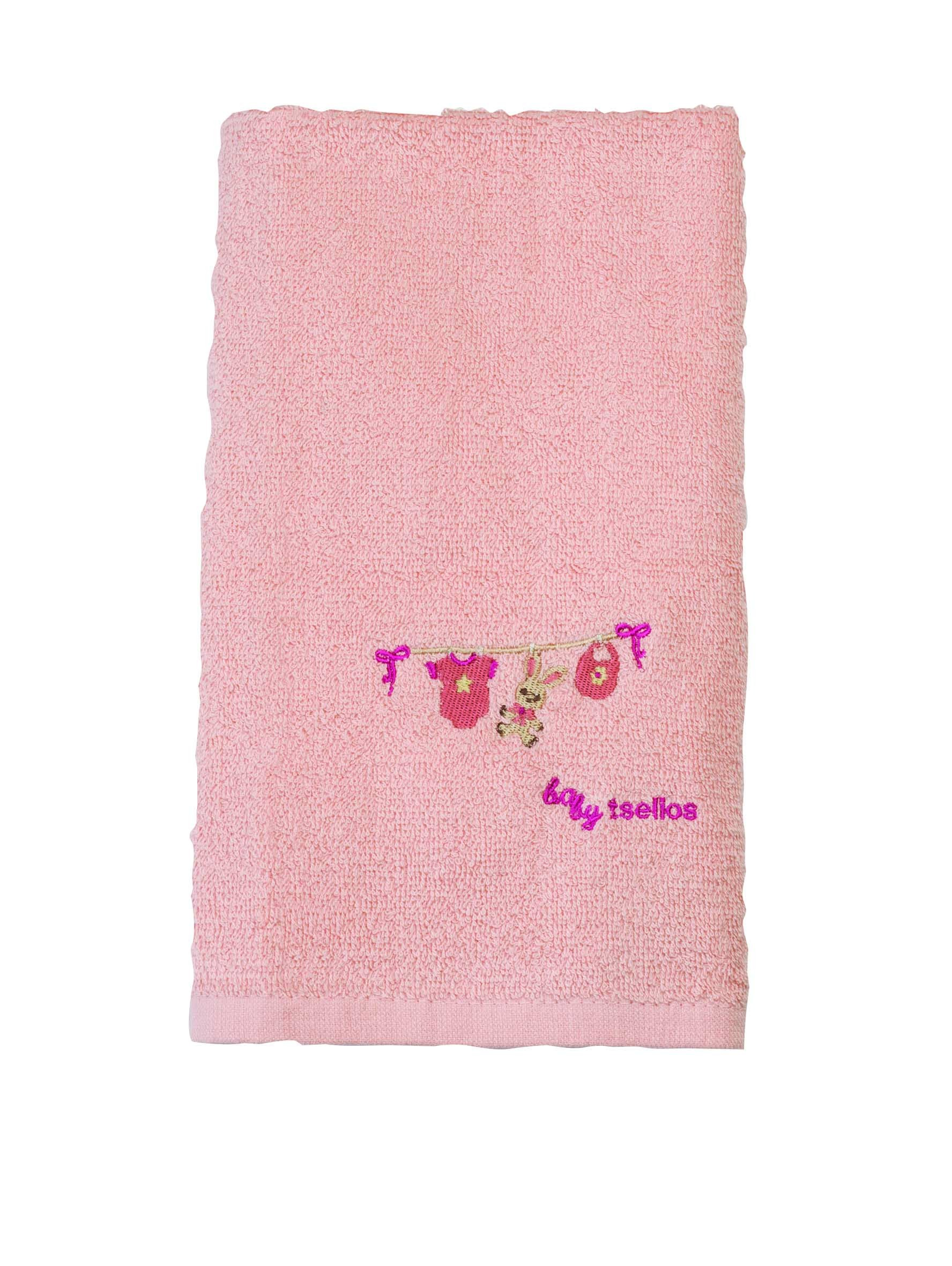 Βρεφικές Πετσέτες (Σετ 2τμχ) Makis Tselios Baby Clothes Pink home   βρεφικά   πετσέτες βρεφικές