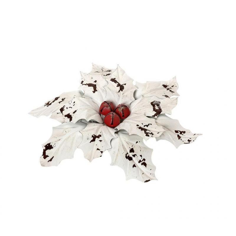 Χριστουγεννιάτικο Διακοσμητικό Λουλούδι Espiel KUD122