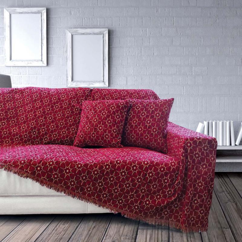 Ριχτάρι Τριθέσιου (180x300) Sb Home Nancy Bordo