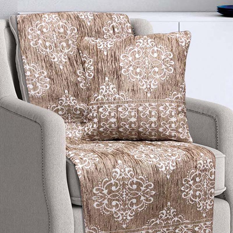 Διακοσμητική Μαξιλαροθήκη (40×40) Sb Home Verona Cream