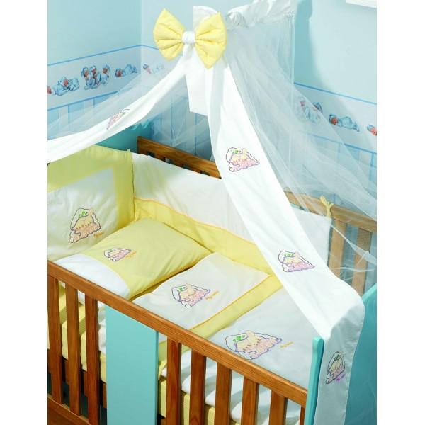 Σετ Κούνιας 6τμχ Makis Tselios Baby Qute Yellow