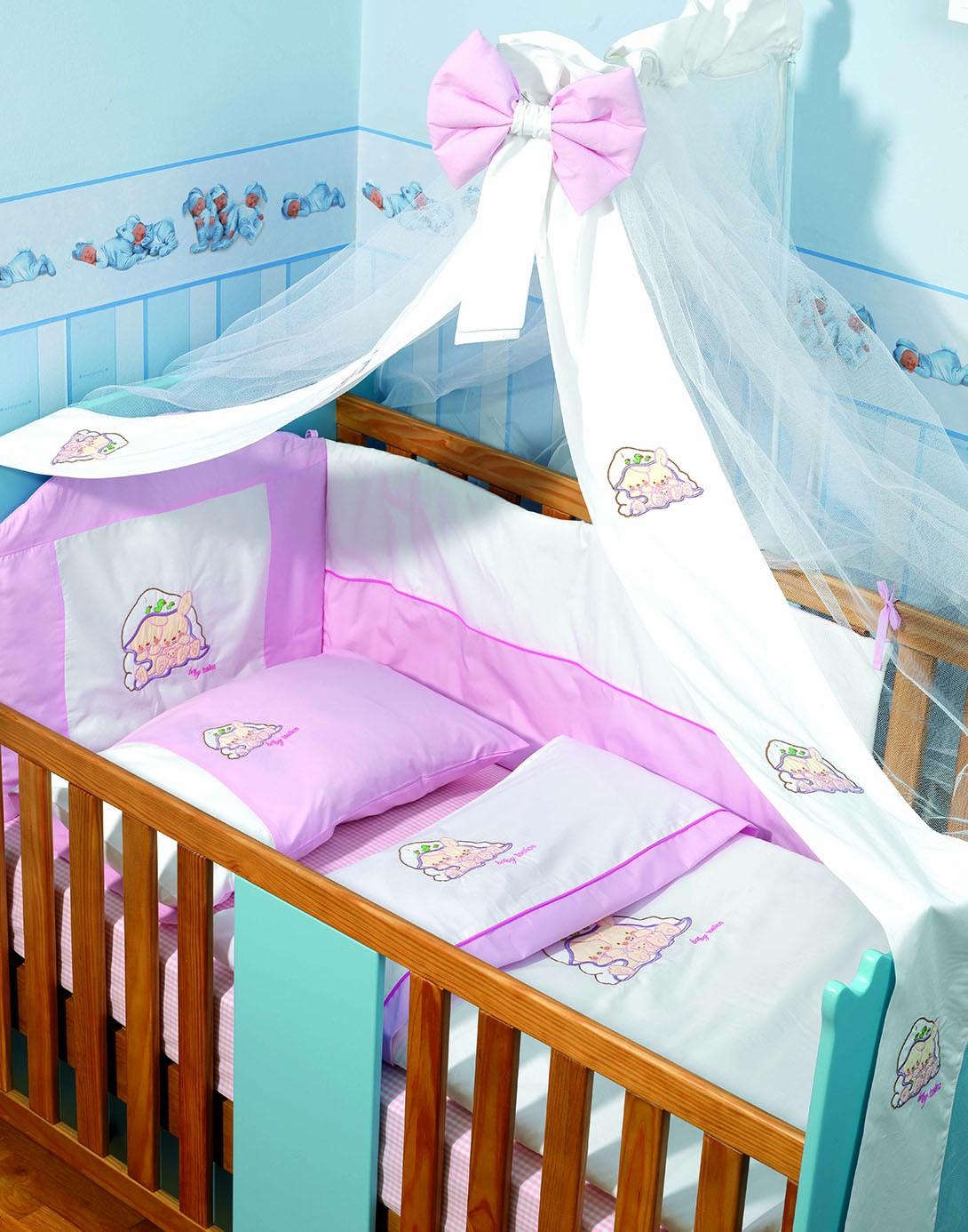 Σετ Κούνιας 6τμχ Makis Tselios Baby Qute Pink