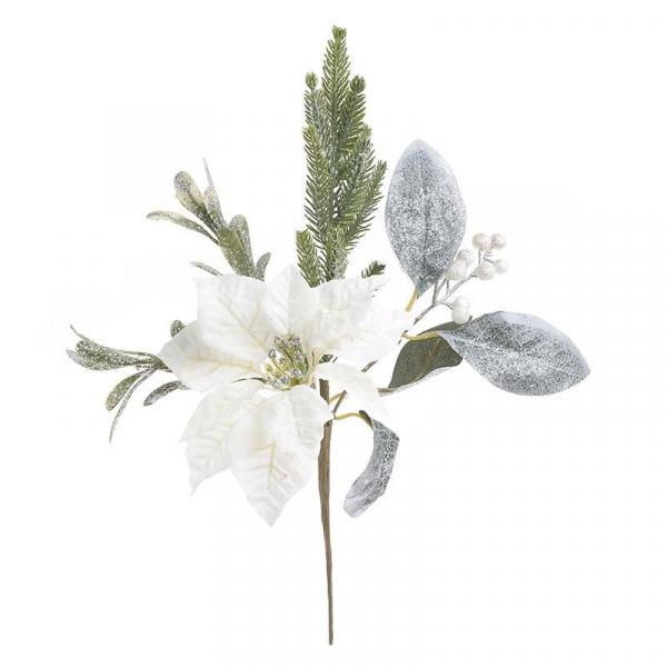 Χριστουγεννιάτικο Διακοσμητικό Λουλούδι InArt 2-85-083-0120