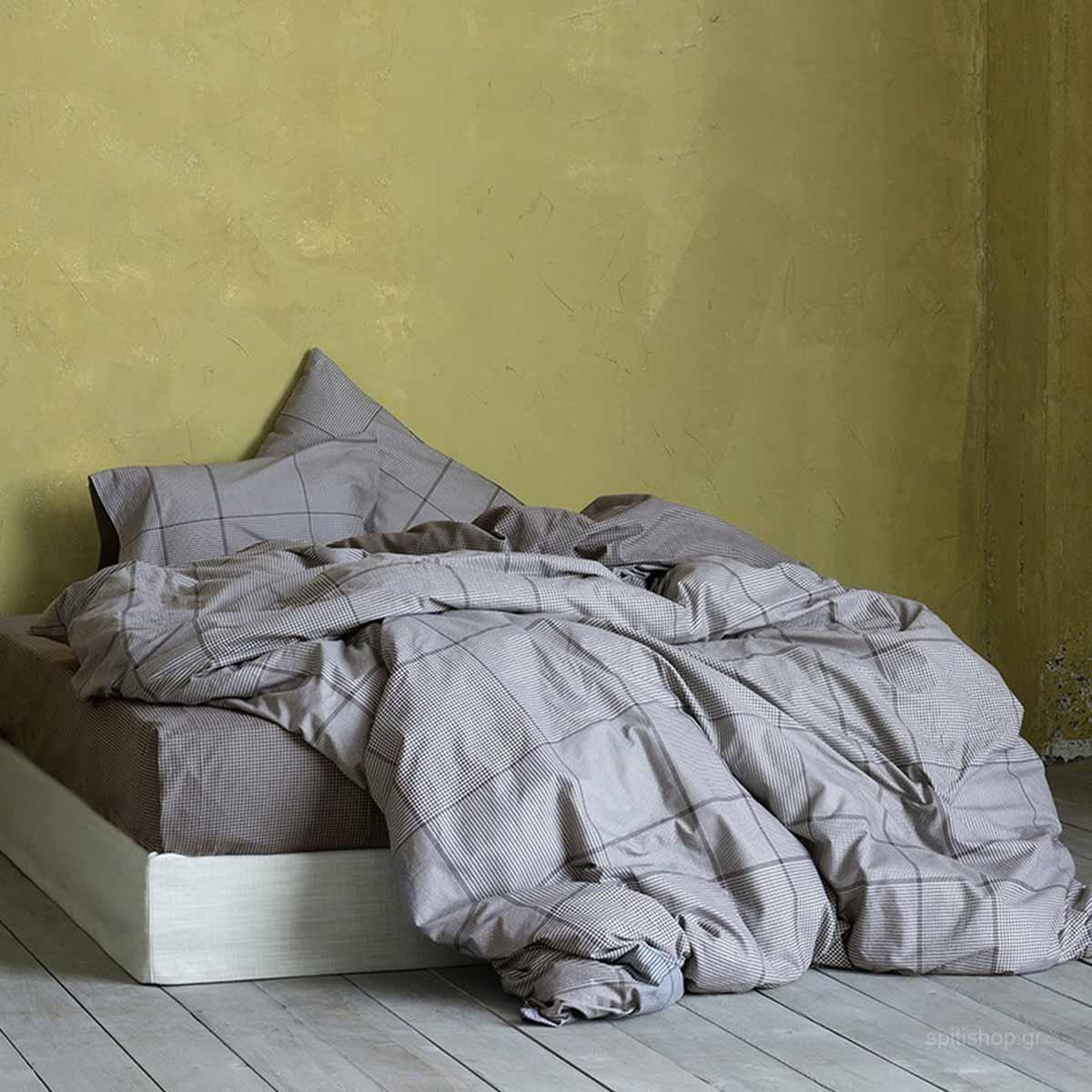 Φανελένια Παπλωματοθήκη Μονή (Σετ) Nima Bed Linen Noble