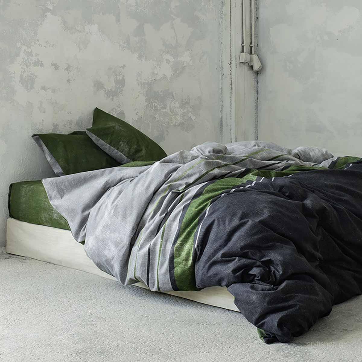 Φανελένια Παπλωματοθήκη Υπέρδιπλη (Σετ) Nima Bed Linen Pivot