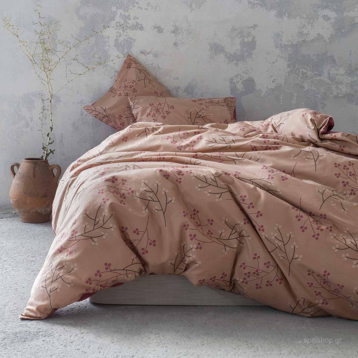 Φανελένια Σεντόνια King Size (Σετ) Nima Bed Linen Clementia