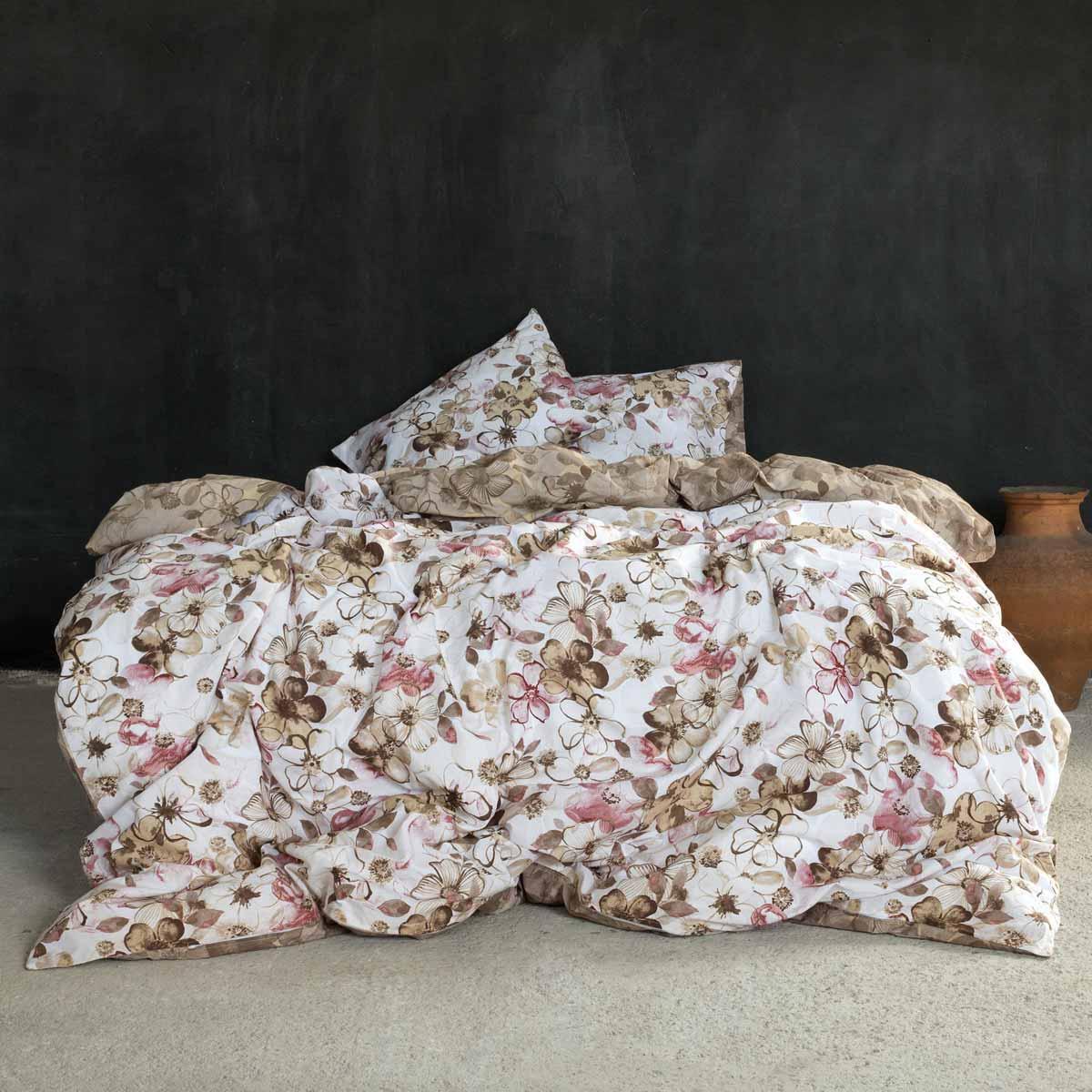 Σεντόνια Υπέρδιπλα (Σετ 240×260) Nima Bed Linen Brindille Terracotta ΧΩΡΙΣ ΛΑΣΤΙΧΟ 240×260 ΧΩΡΙΣ ΛΑΣΤΙΧΟ 240×260