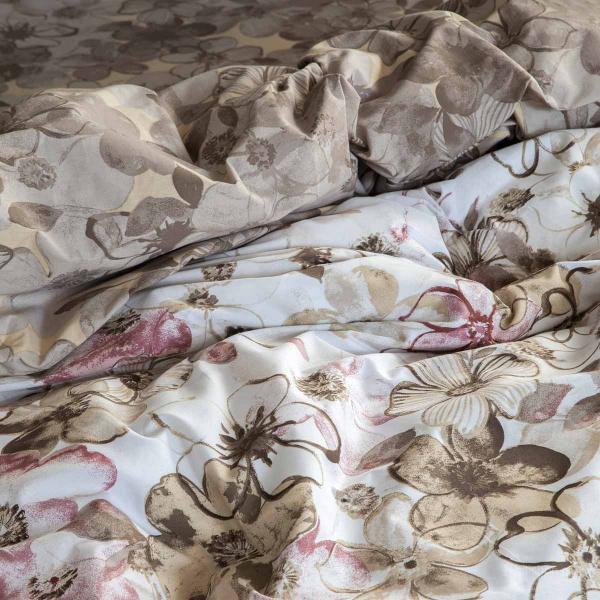 Σεντόνια Υπέρδιπλα (Σετ 240x260) Nima Bed Linen Brindille Terracotta