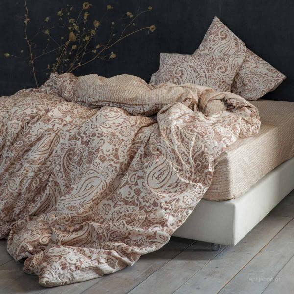 Παπλωματοθήκη Υπέρδιπλη (Σετ) Nima Bed Linen Idalia Beige