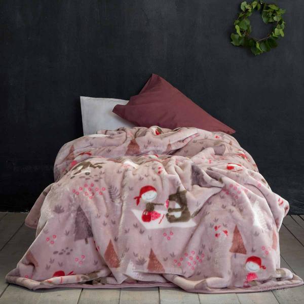 Κουβέρτα Βελουτέ Μονή Nima Kids Little Red Riding Hood