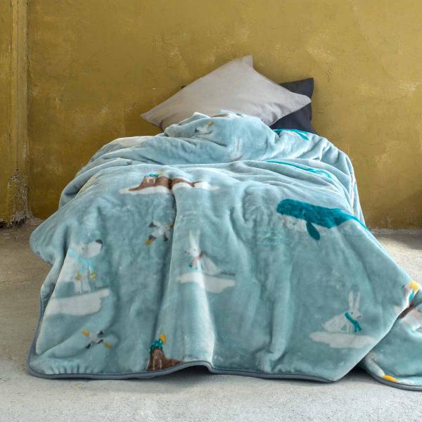 Κουβέρτα Βελουτέ Μονή Nima Kids Arctic