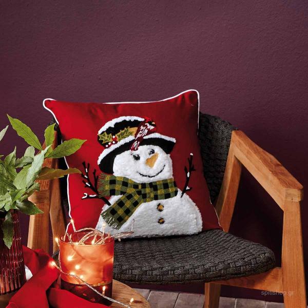 Χριστουγεννιάτικη Μαξιλαροθήκη (45x45) Kentia Loft Santa