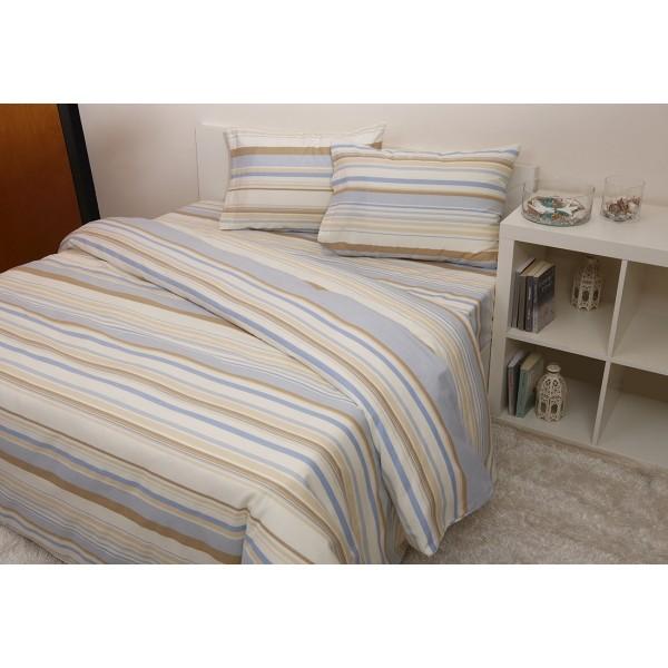 Φανελένια Σεντόνια Υπέρδιπλα (Σετ) Viopros 8702 Γαλάζιο