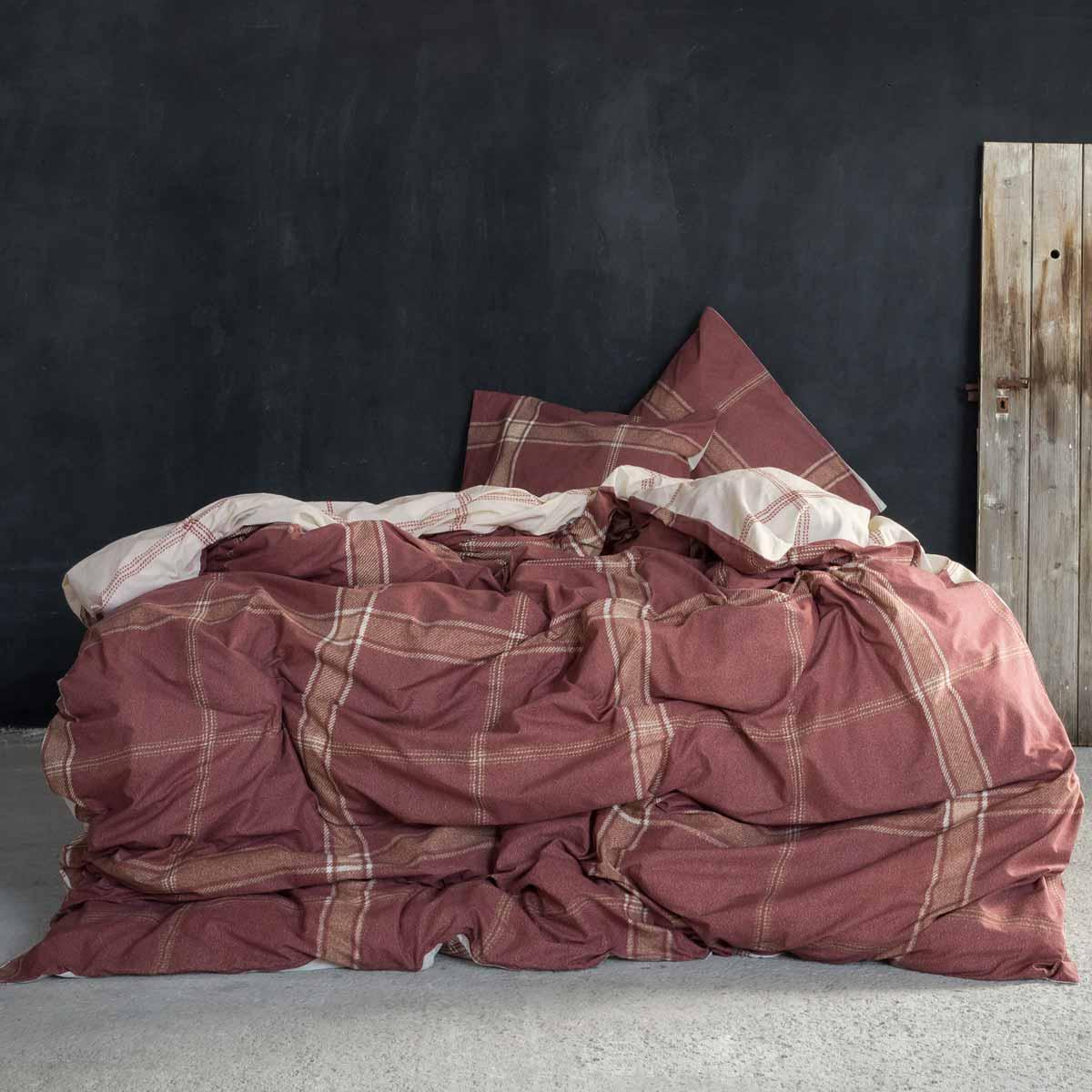 Σεντόνια Υπέρδιπλα (Σετ) Nima Bed Linen Apparel Terracotta ΜΕ ΛΑΣΤΙΧΟ 160×200+32 ΜΕ ΛΑΣΤΙΧΟ 160×200+32